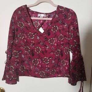 Band of Gypsies bell sleeve blouse xs
